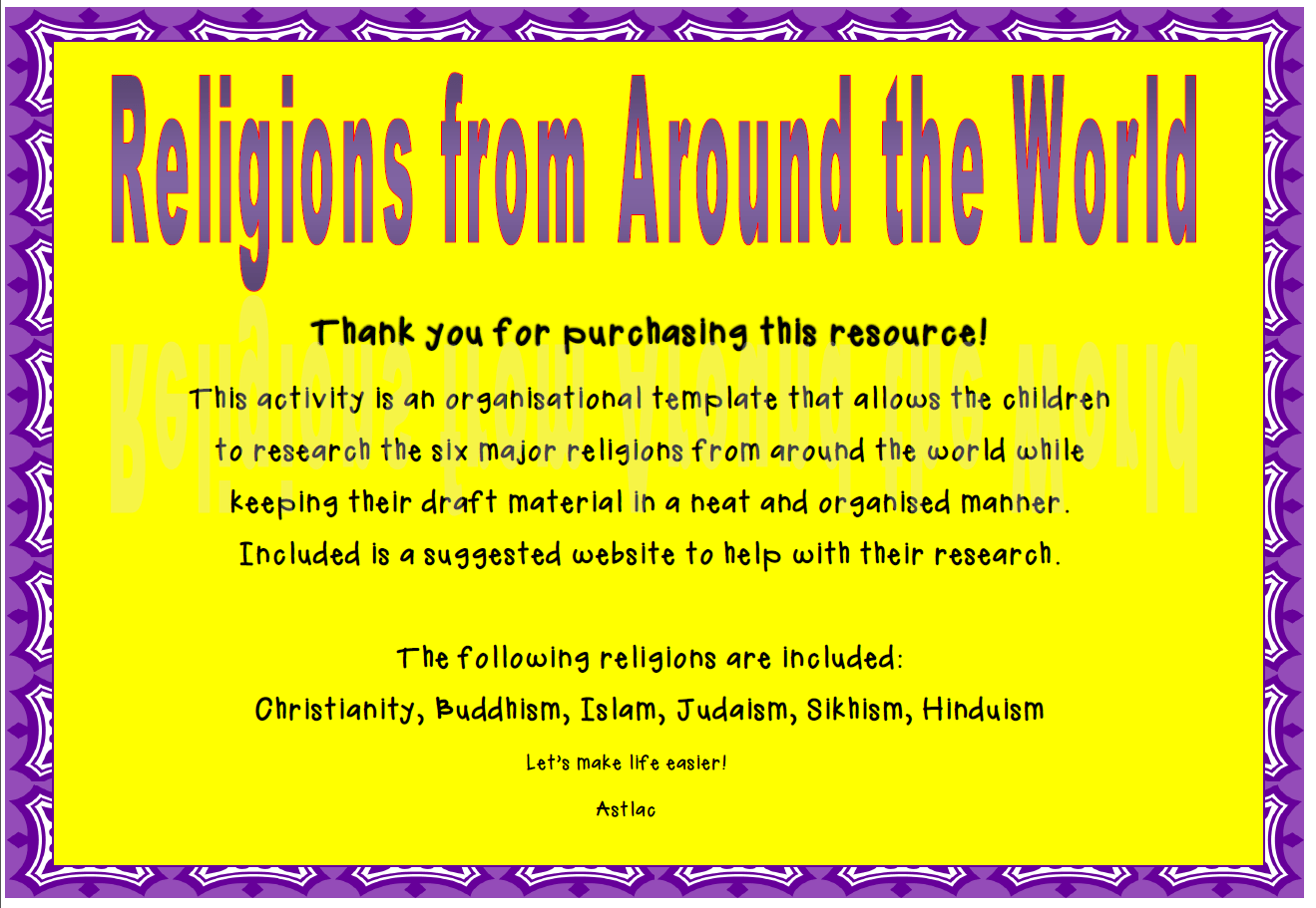 Religions From Around The World