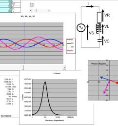 rlc circuit simulation screenshot [ 1118 x 879 Pixel ]