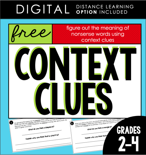 small resolution of Context Clues FREEBIE! (with DISTANCE LEARNING option)   Teaching and Tapas