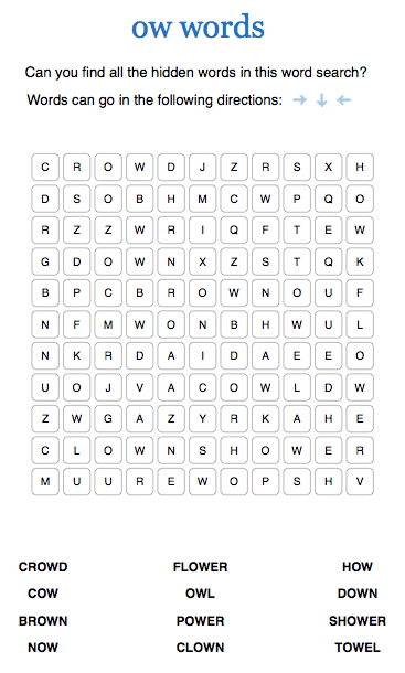 Phonics Word Searches For Foundation And Ks1