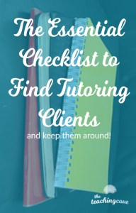 Essential Tutoring Client Checklist