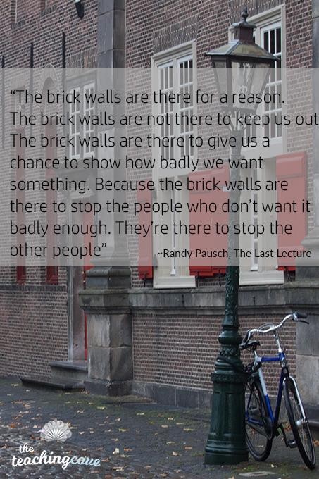 Brick Walls motivational quote