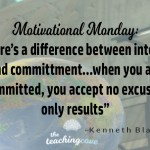 Motivational Monday: Interest vs. Commitment…Accept No Excuses