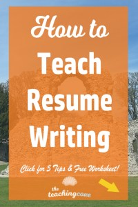 How To Teach Resume Writing