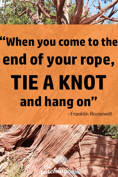 Motivational Mondays - End of Your Rope