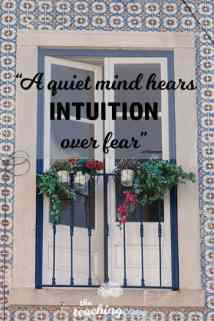 Motivational Monday 30 - Intuition Quiet Mind