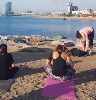 Yoga on Beach Intuition