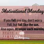 Motivational Monday: When You Fall, Rise Like The Sun: On Failure