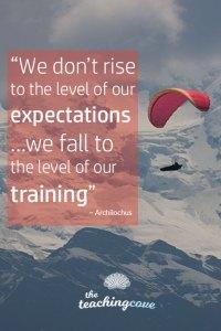 Motivational Monday 84 Expectations Training
