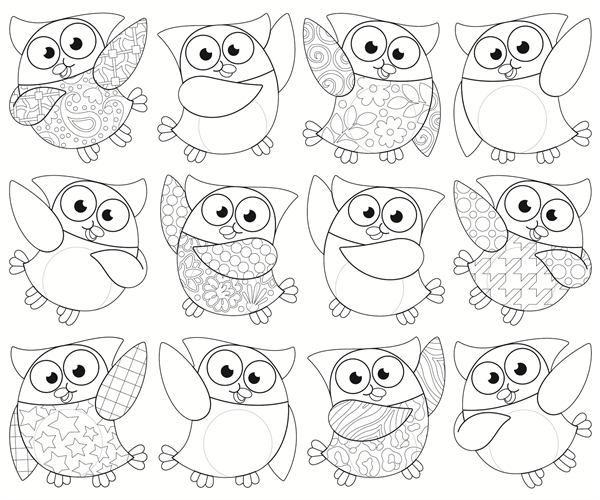 Colour Me Owl Stars Cut Outs