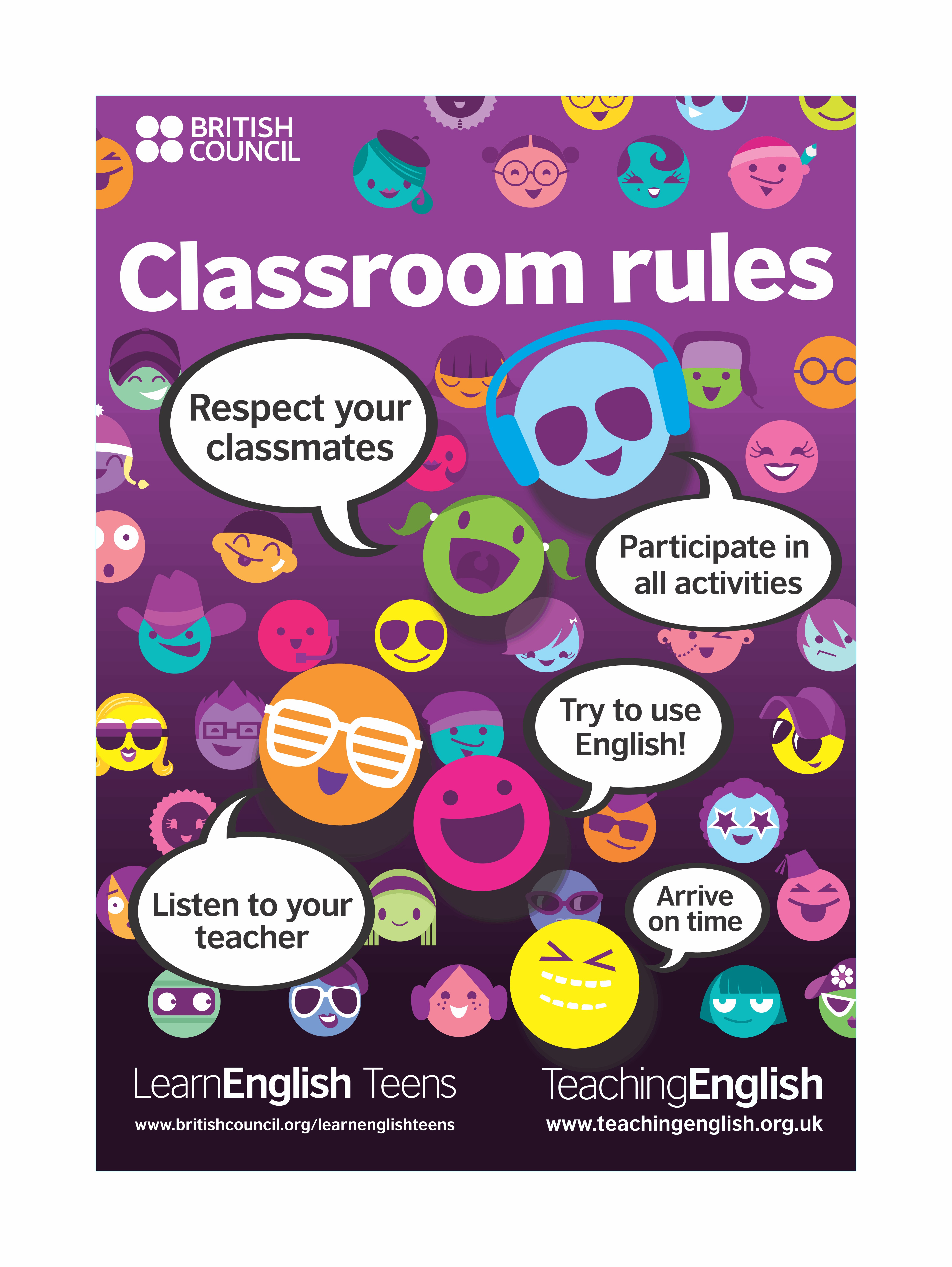 Teens Classroom Rules Posters