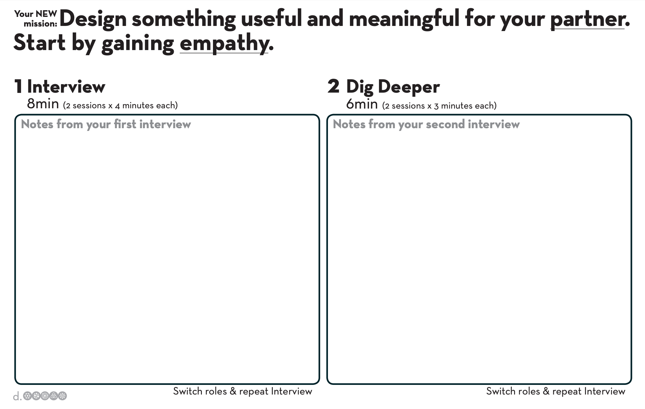 Design Thinking Your New Mission Worksheet