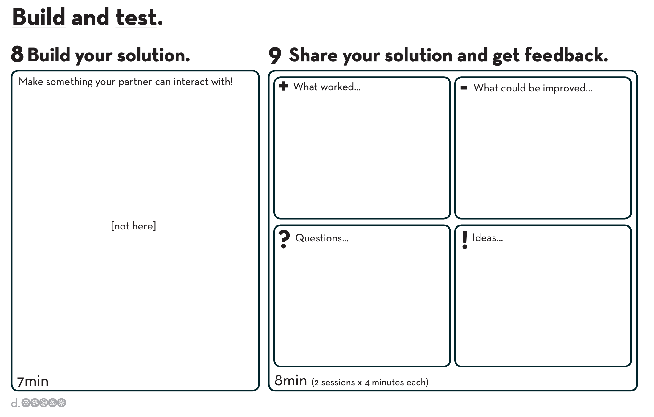 Design Thinking Build And Test Worksheet