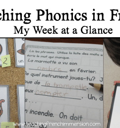 Teaching Phonics in French - Teaching French Immersion: Ideas for the  Primary Classroom [ 1722 x 3061 Pixel ]