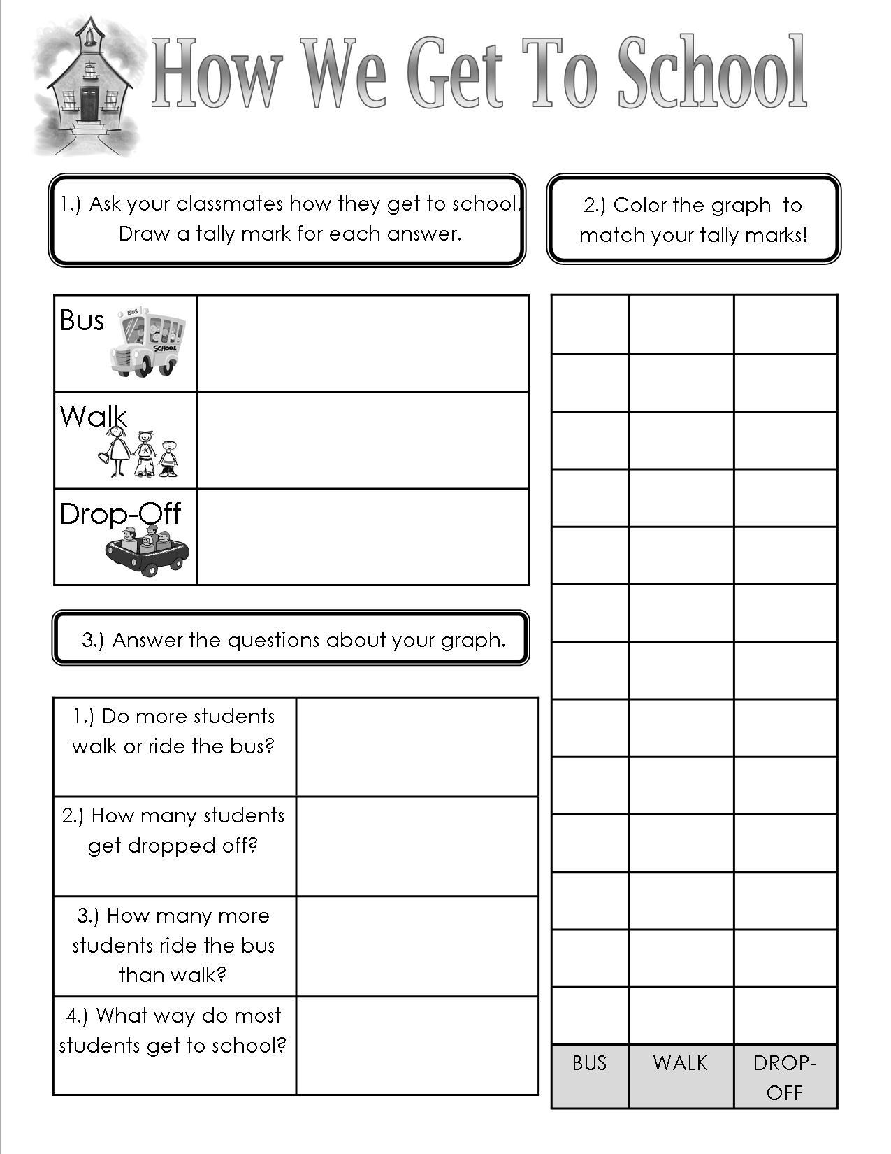 How We Get To School Sheet Teaching Heart Blog