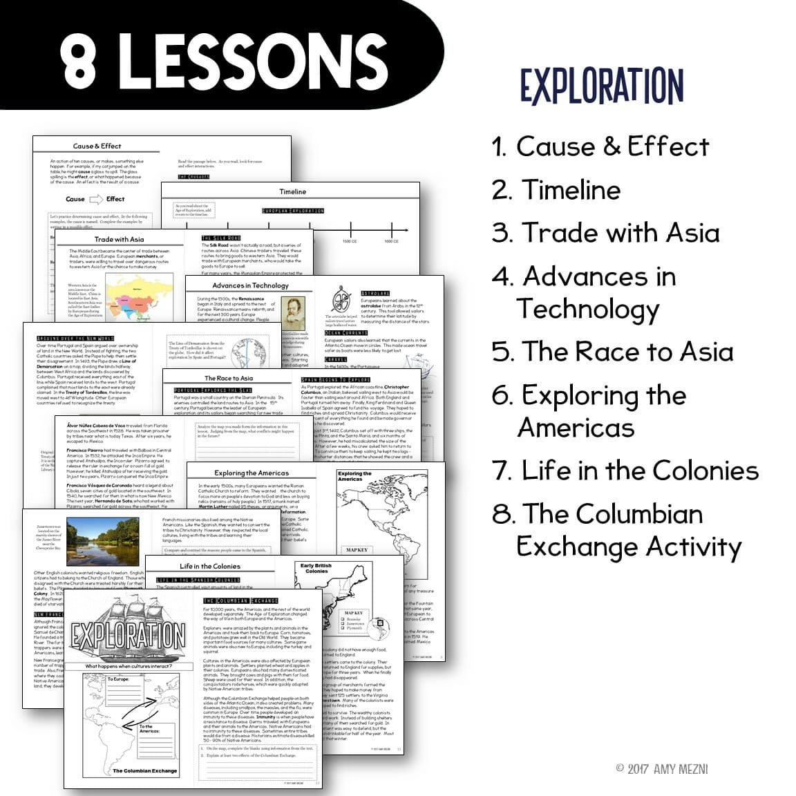 American History 7 Unit Bundle: Informational Texts, Maps