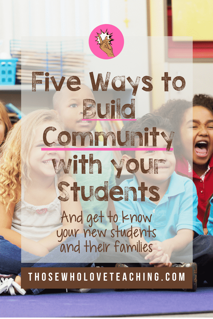 5 ways to Build Classroom Community and Get to Know your New Students and Their Families