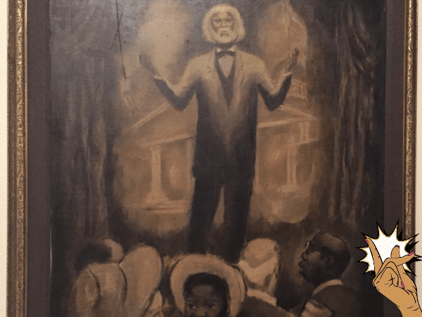 Frederick Douglass Speaking to Abolitionists