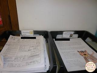 Classroom organization bins