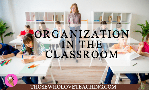 Teacher in Organized Classroom