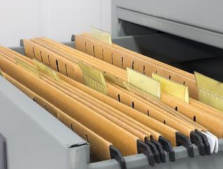 Classroom organization filing cabinet