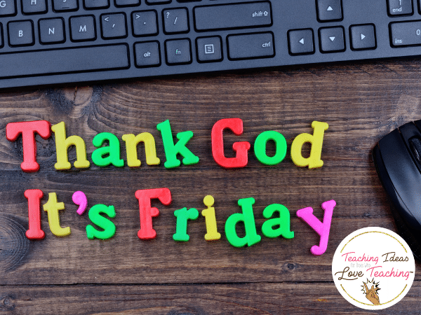 Thank God it's Friday Spelled over Keyboard