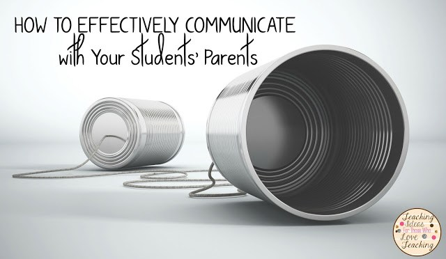 Teacher and Parent communication through tin cans