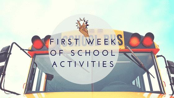 School bus with First Week of School Activities Overlay