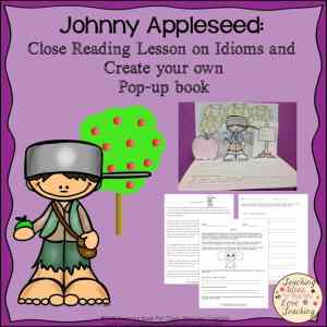 Guided reading activity on Johnny Appleseed