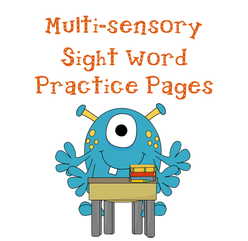 Sight Word Page Freebie