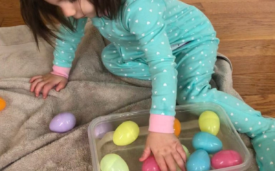 Easter Egg Water Scoop: A Baby & Toddler Sensory Activity
