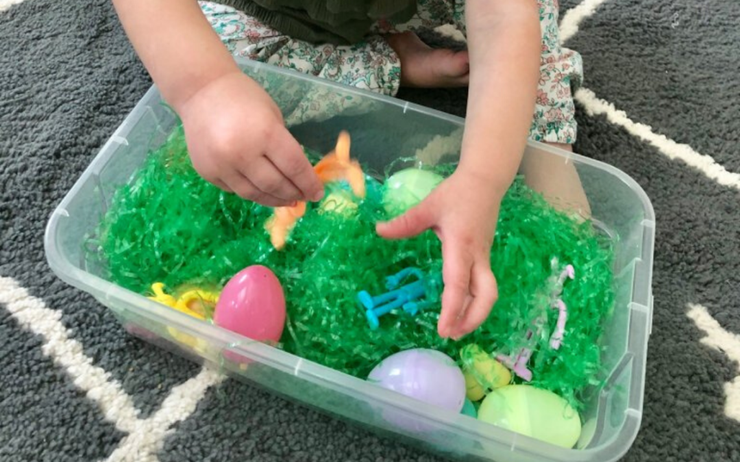 Easter Sensory Bin for Babies and Toddlers