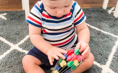 PomPom Whisk: A Baby Fine Motor Activity