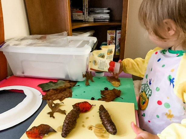 Use this fun fall leaf painting activity with your toddler to improve developmental skills like fine motor, sensory, language & cognition