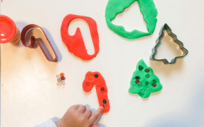 Christmas Play-Doh Fun With Cookie Cutters