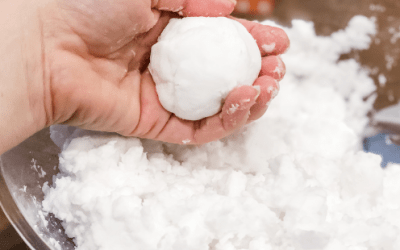 DIY Fake Snow For Sensory Play