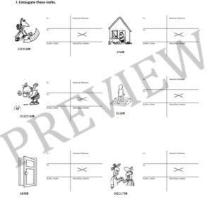 -IR Verb Worksheets: Regular, Simple Present