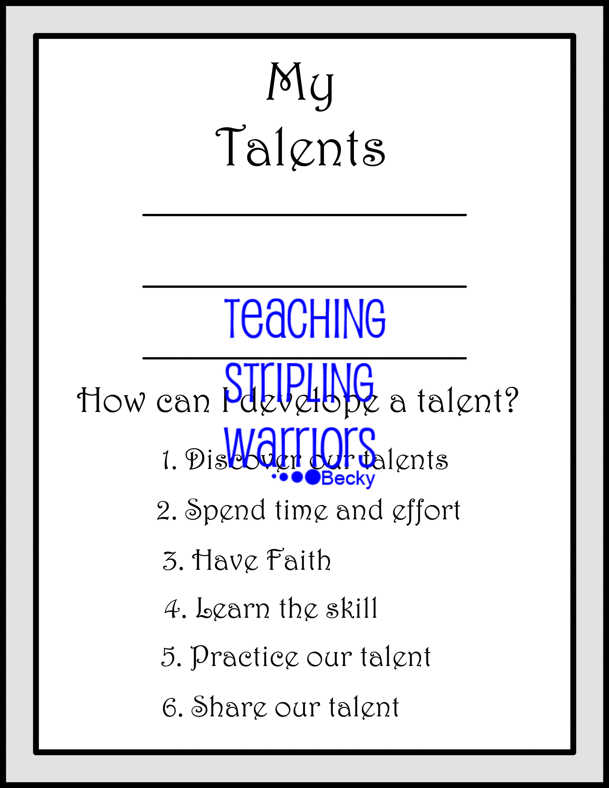 Lesson 26 Parable Of The Talents