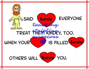 Jesus said love everyone wm