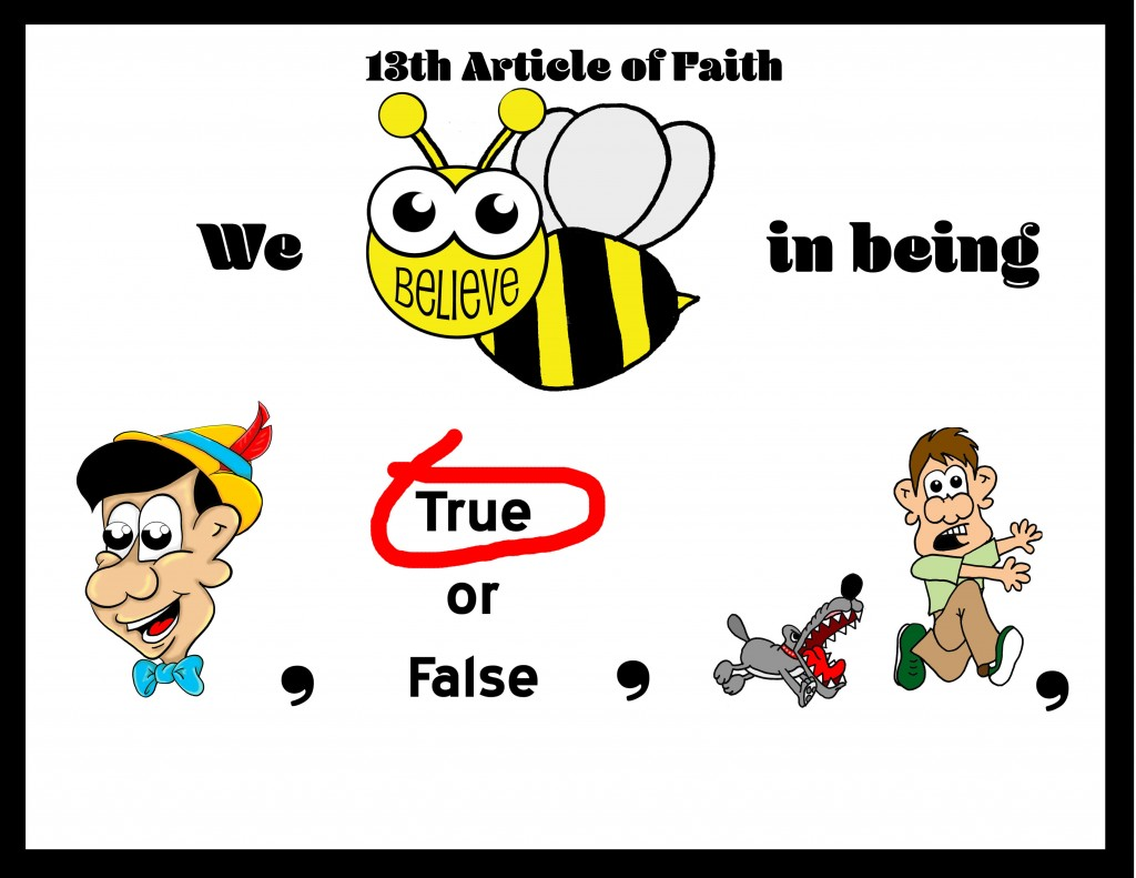 the 13th article of faith