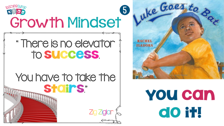 growth mindset success and Luke Goes to Bat