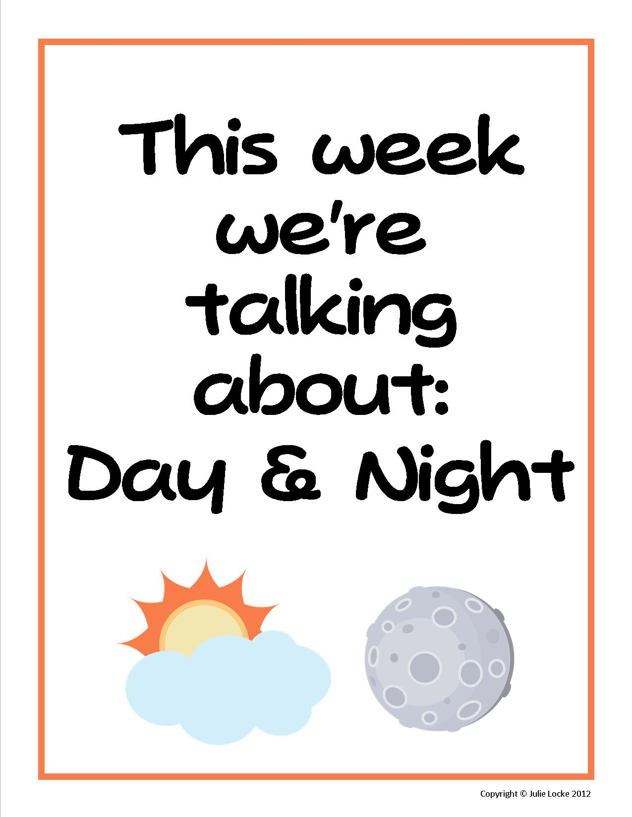 This Week We Re Talking About Day And Night Teaching The