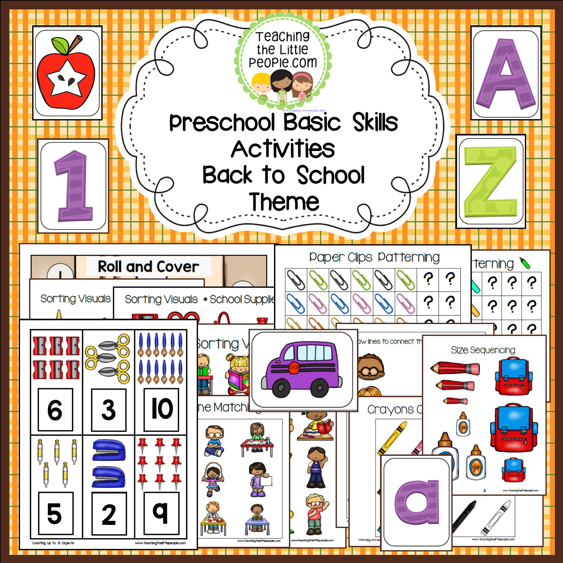 Freebie How Many Backpacks In The Cubbies Interactive Counting Activity Teaching The Little