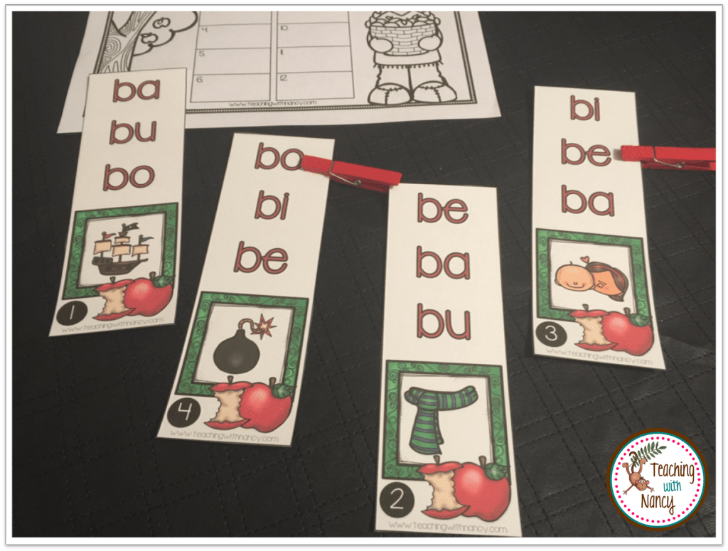 New Spanish Word Work Syllable Stations For B And C