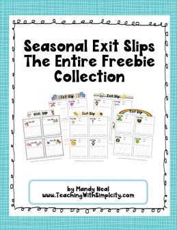 Seasonal Exit Slips
