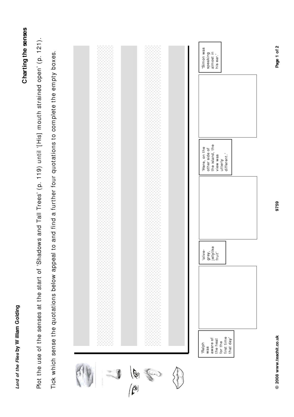 lord of the flies plot diagram dicot stem ks4 prose by william golding teachit