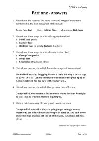 Consolidation worksheets - the answers - Of Mice and Men ...