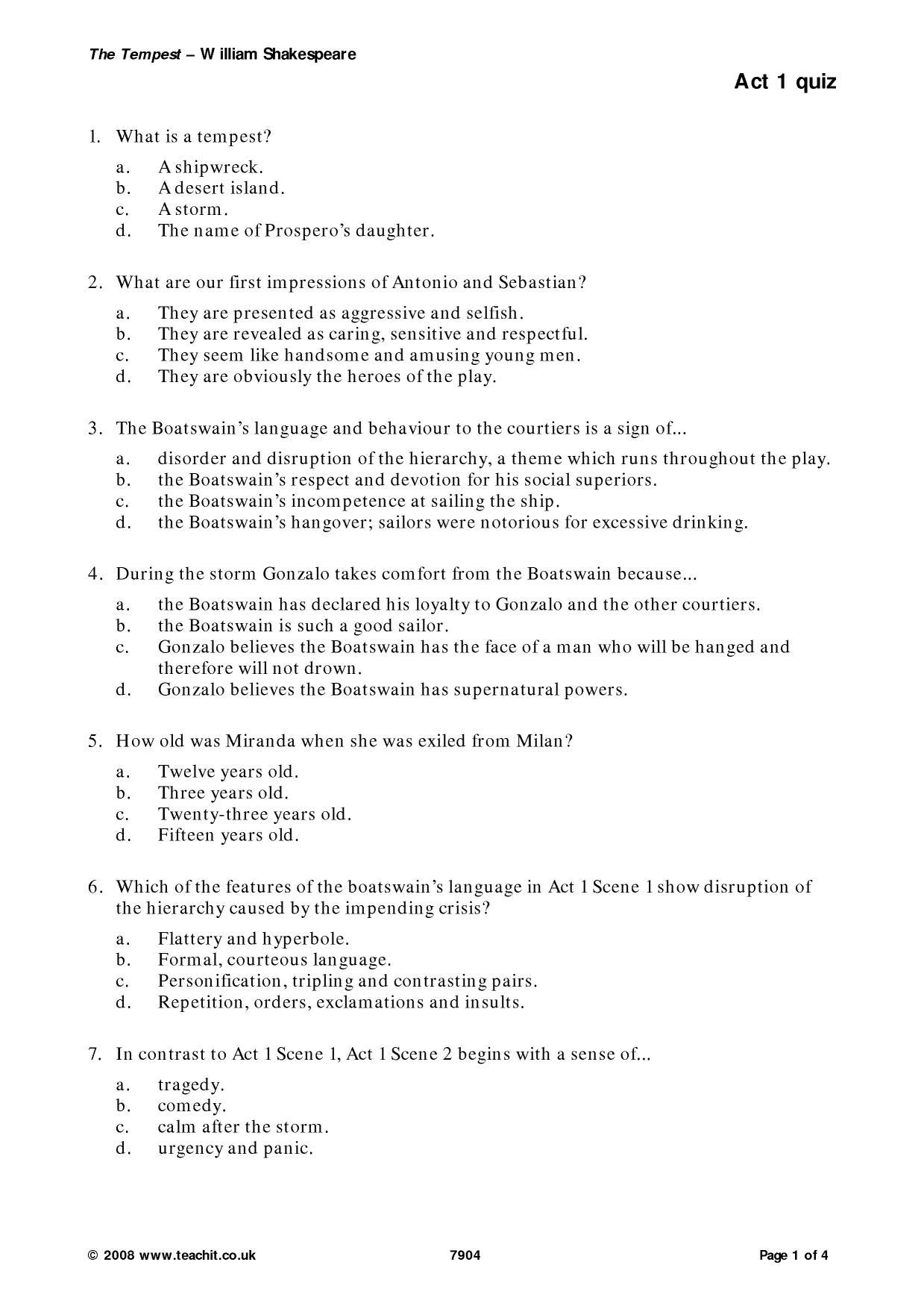 Act 1 Quiz