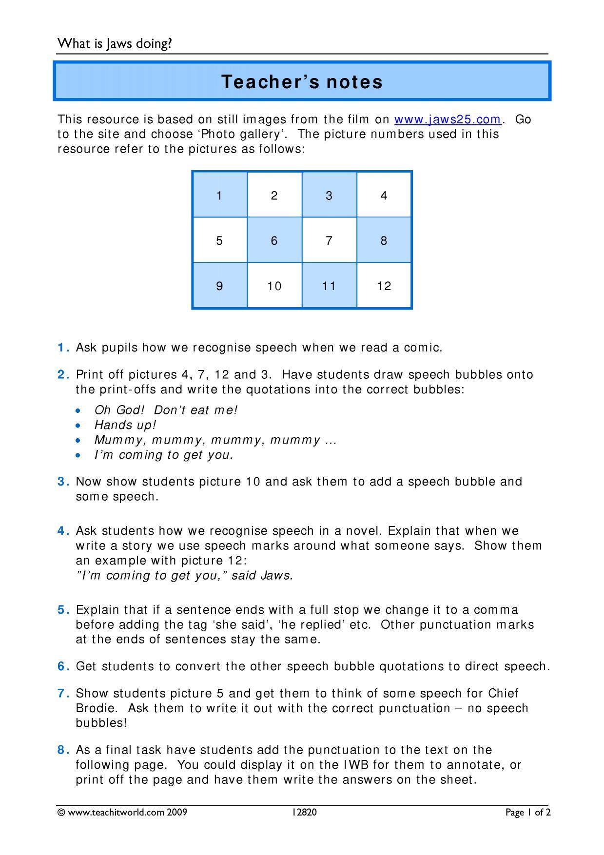 Worksheet Use Of Commas