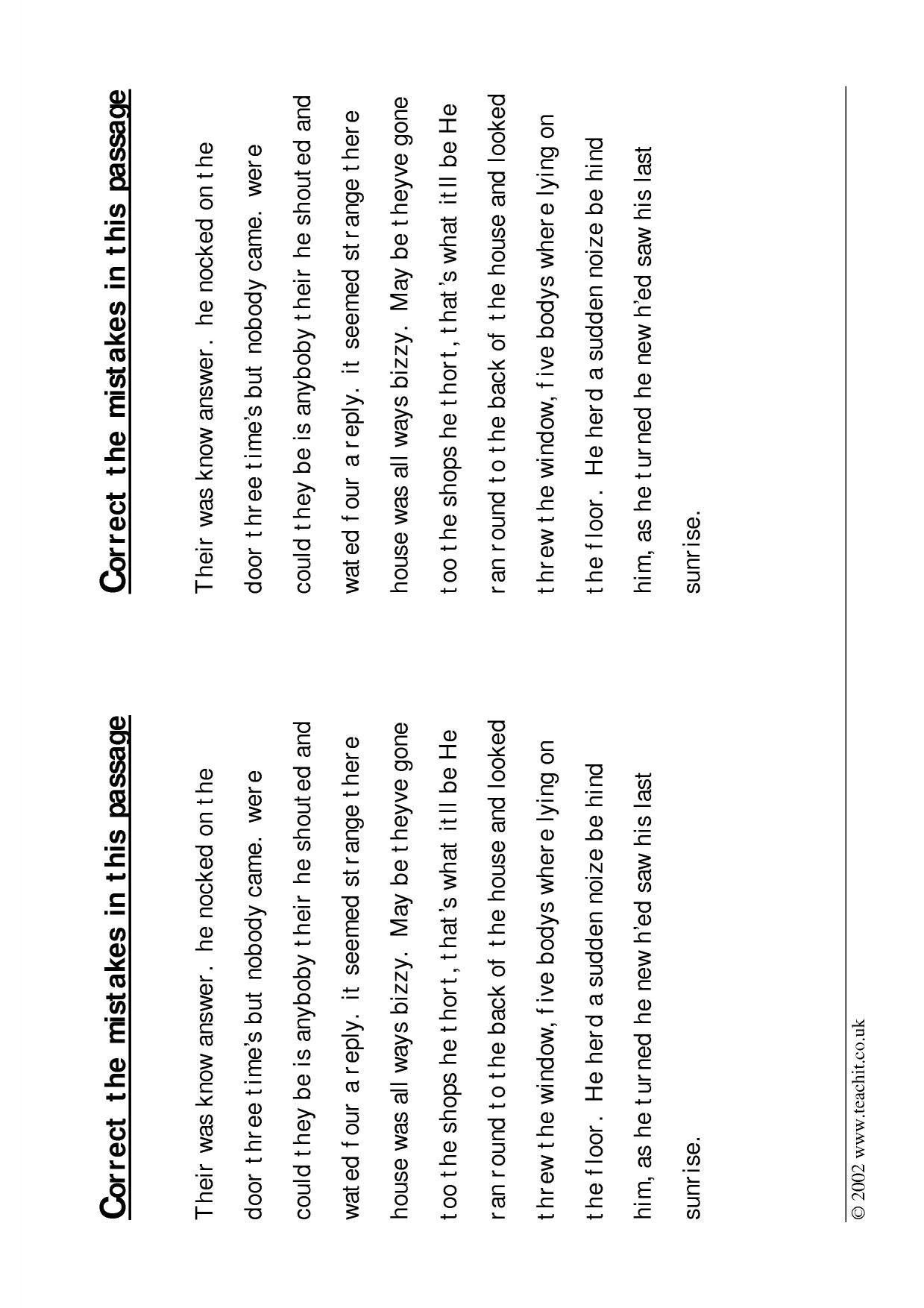 Spanish Essay Correction Key